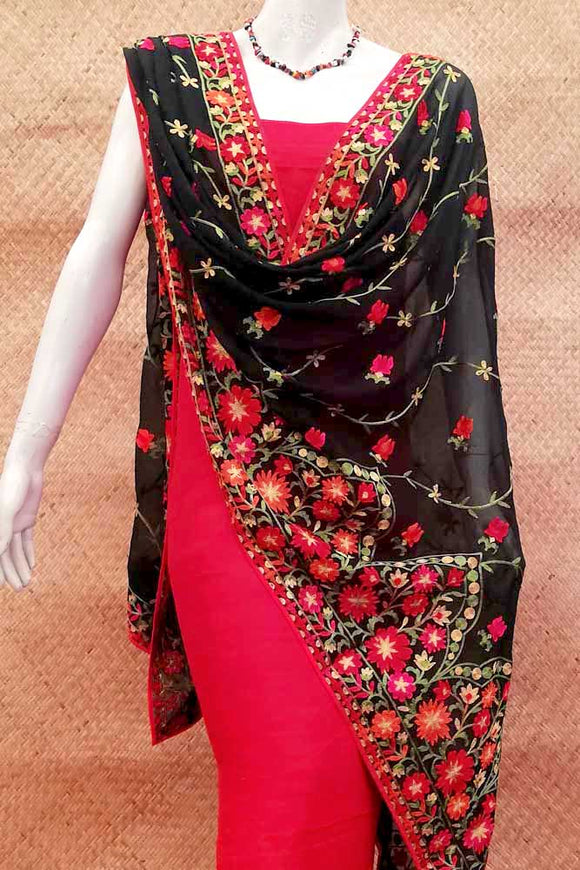 Georgette dupatta with Embroidery