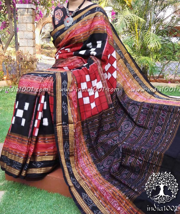 Woven Orissa Bichitrapuri Cotton Saree ( without bp)