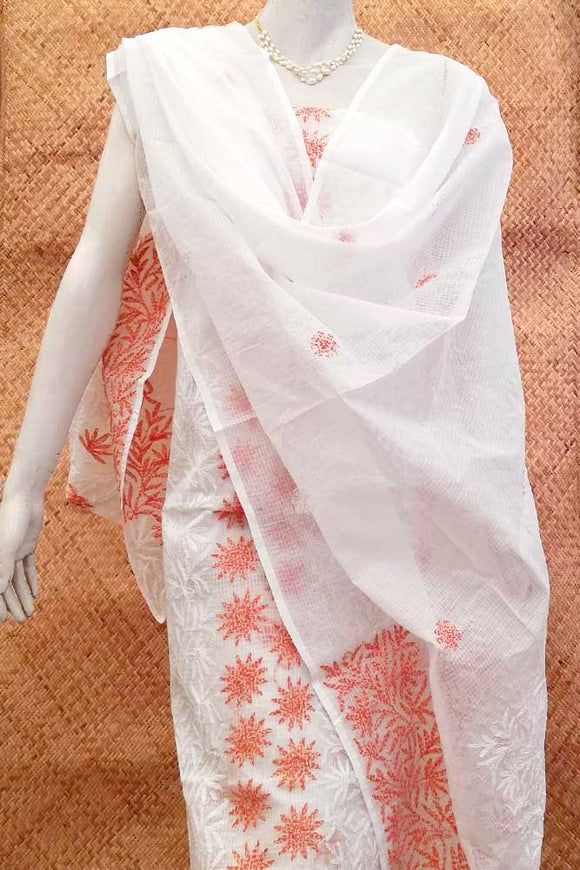 Kota Dupatta & Kurta with Tepchi work Fabric