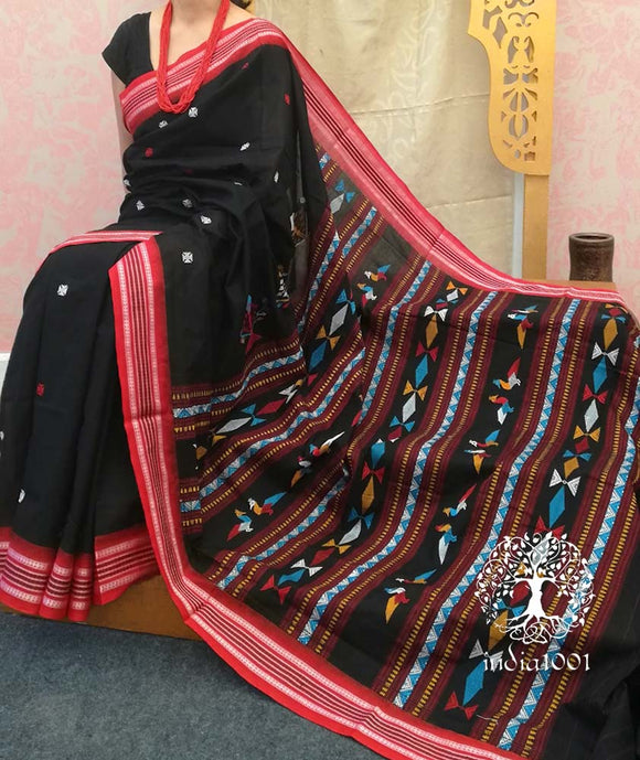 Beautiful Handwoven Dhalapathar cotton Saree