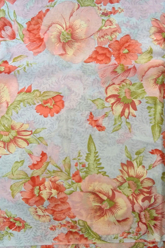 Printed Semi crepe fabric
