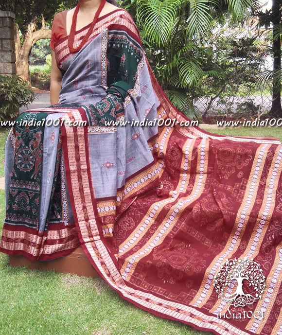 Elegant Orissa Ikkat cotton saree