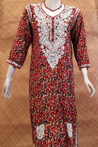 Rayon Kurta with Hand Embroidery