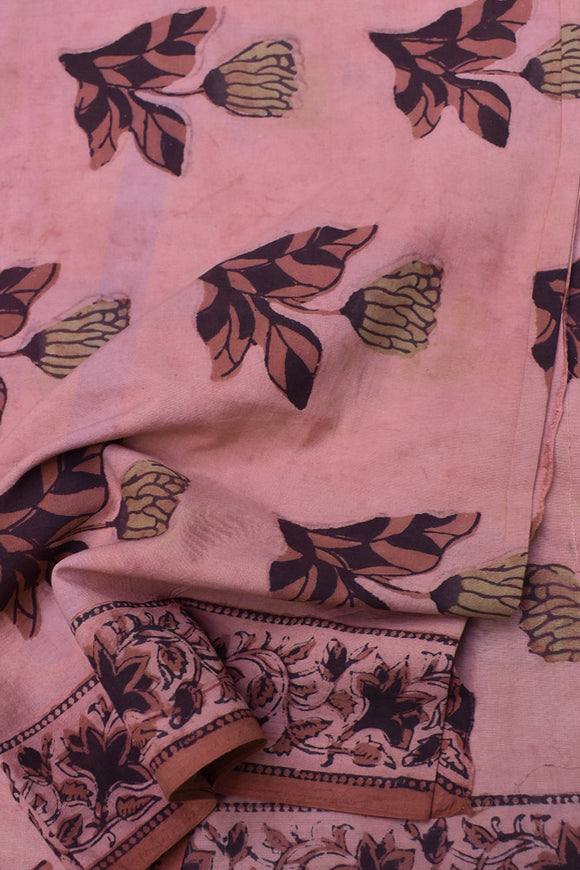 Beautiful Ajrakh Dabu Hand Block Printed Cotton Fabric