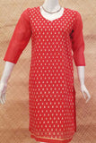 Elegant Silk Cotton  Kurta with Embroidery