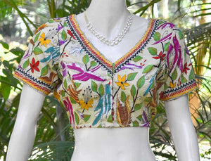 Hand Embroidered Kantha  Blouse Size - 40 , 42