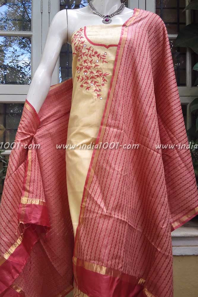 Tussar Silk and silk cotton Suit Fabric