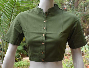 Cotton Blouse with Collar -  Size  - 36, 38, 40, 44