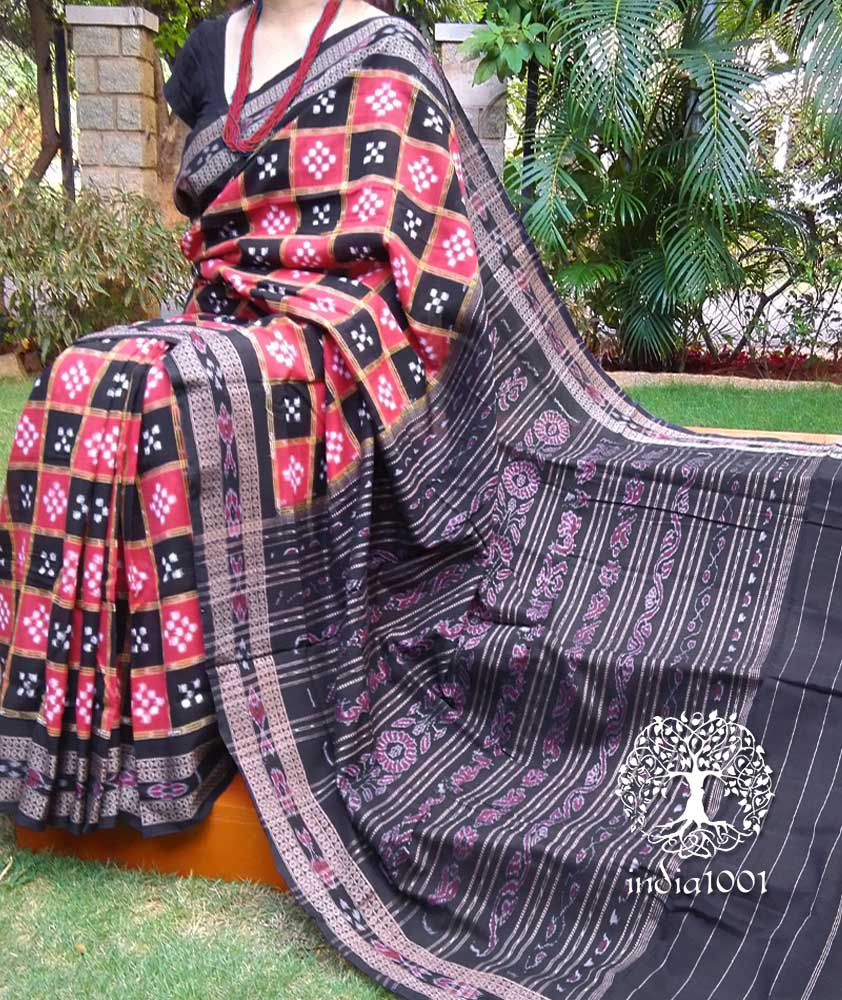 Elegant Orissa Ikkat Sakta cotton saree ( without BP)
