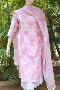 Elegant embroidered Kota Kurta & dupatta set
