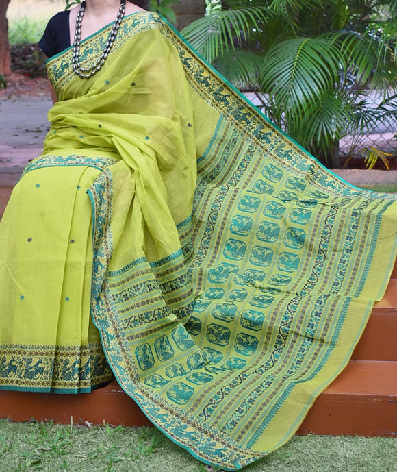 Beautiful Handcrafted Baluchari Cotton saree