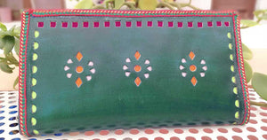 Handcrafted Kutch Punch craft Clutch / Wallet with zipper
