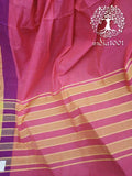 Elegant Mangalgiri Cotton Saree with khadi border