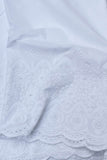 White Cotton Voile Fabric with Embroidery & cutwork( 2.5mtrs)