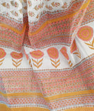 Elegant Kota cotton Saree with Sanganer Hand block print(without bp)