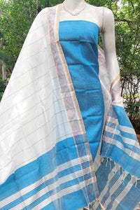 Elegant Mangalgiri Silk Cotton suit Fabric