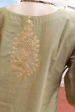 Elegant  Chanderi Long Kurta with Pitta work