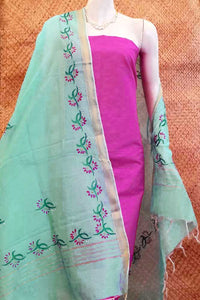 Beautiful Chanderi Dupatta with Hand embroidery