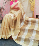 Beautiful Tissue & Zari Gold Saree