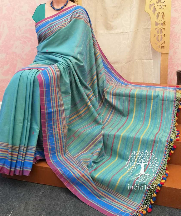 Handwoven Cotton Bhujodi Kutch Saree