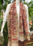 Gorgeous Cotton Stole with Kalamkari Hand Block Printing