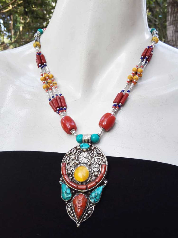Multicolor Tribal Necklace