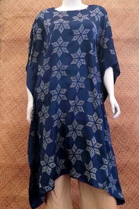 Beautiful Tie & Dye bandhani work Gajji Silk Kaftan