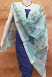 Elegant Chanderi Dupatta with Hand Block Print & stitched gota