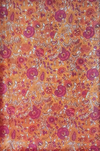 Fine silk fabric with screen print pattern