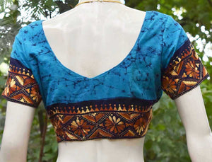 Hand Embroidered Kantha  Blouse,  Size -  40