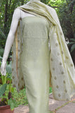 Elegant Chanderi  Kurta with Chikankari work & Fine Si-co dupatta with embroidery
