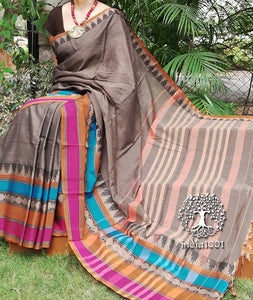 Elegant Narayanpet Woven Cotton Saree with broad border
