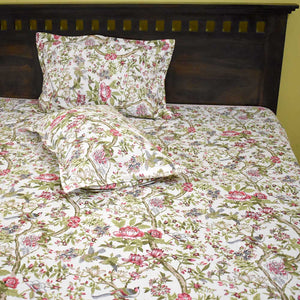 Prakriti print King Size  Double Bed sheet with pillow covers