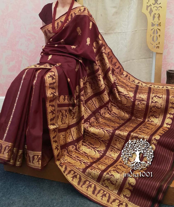 Exquisite Pure silk Handcrafted Baluchari saree