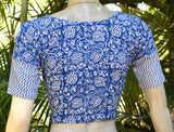Hand Block Printed cotton Blouse - size 36 , 38