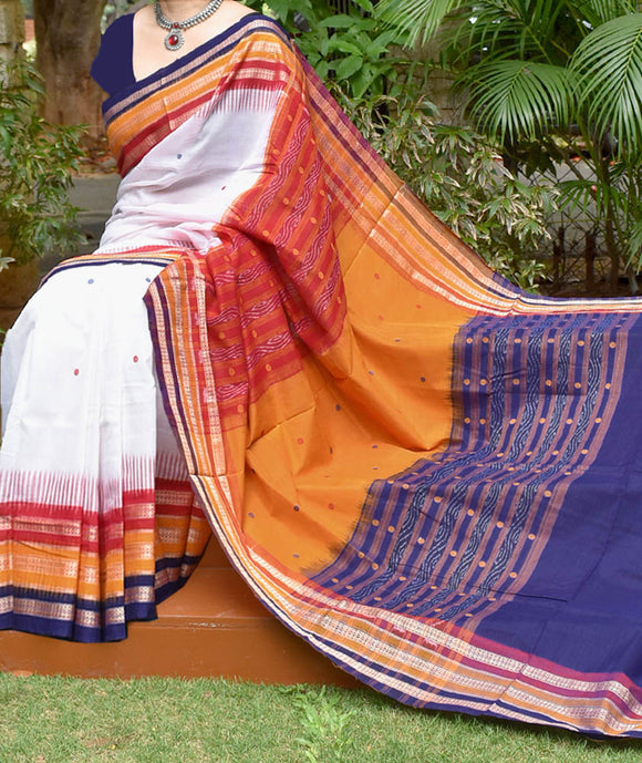 Elegant Handloom Kathifera Cotton Saree