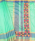 Beautiful Semi- Dupion Silk saree with cutwork & embroidery
