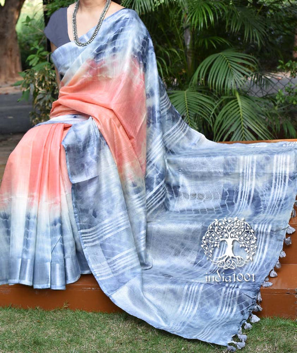 Elegant cotton & Faux Linen saree