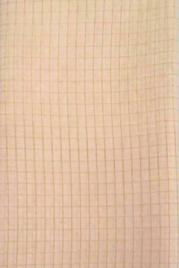 Fine silk fabric with woven zari checks