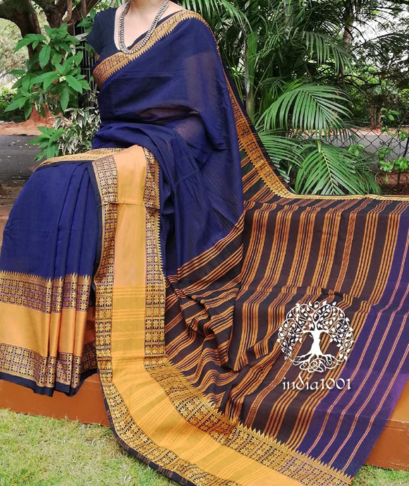 Beautiful Hand Woven Begumpuri Saree (Without BP)