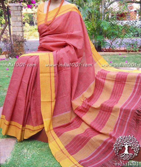 Elegant Patteda Anchu cotton saree
