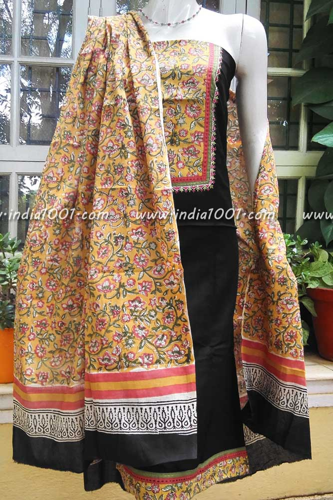 Elegant Cotton Unstiched Suit Fabric