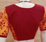 Block Printed  Cotton Blouse - Size 36, 38, 42