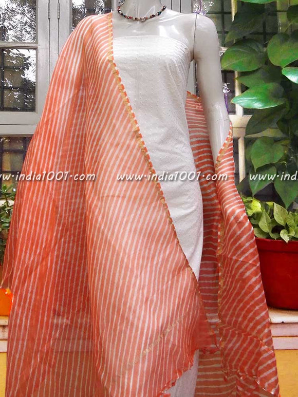 Fine Kota Silk Dupatta with Leheriya work