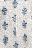 Elegant cotton silk fabric with screen prints