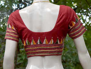 Hand Embroidered Kantha  Blouse,  Size -  38