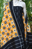 Handloom Telia Rumal Ikkat Cotton dupatta with Woven Ikkat Cotton Kurta