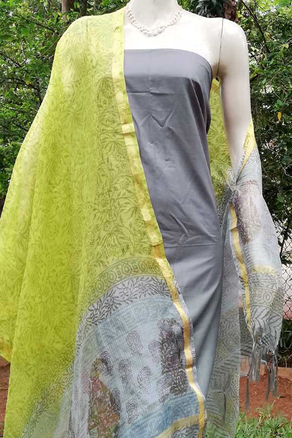 Elegant Block Printed Kota Silk Cotton dupatta
