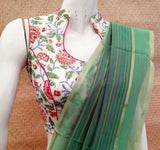 Block Printed  chanderi  Blouse