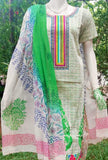 Elegant Cotton suit with Embroidery